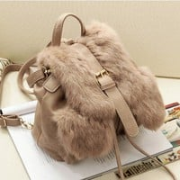 European Women Faux Rabbit Fur shoulder bag #773