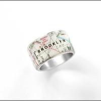 Brooklyn Map ring
