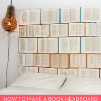 Reading Material: How to Make a Book Headboard