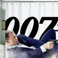 Shower Curtain Bond James agent 007 spy skyfall bondiana 71x71&quot;(180x180cm)