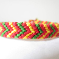 Braided Friendship Bracelet - Christmas