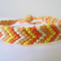 Chevron Braided Friendship Bracelet - Colours of the Sun