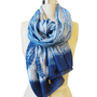 Handmade and Naturally Dyed Silk Scarf - Python Indigo