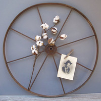 large vintage cast iron wheel by KatyBitsandPieces on Etsy