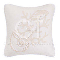 Seashell Rice Stitch Throw Pillow #1 | Atlantic Linens