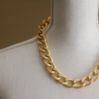 Olivia - Gold Link Necklace