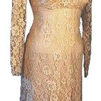 Vintage 50's Lace Dress. Ecru, Fully Lined by RedheadVintage on Sense of Fashion