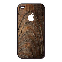 apple wood image iPhone 4 case iPhone 4s case cell phone cover - (20111)