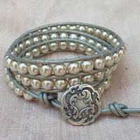 My Cariads Wrist Wrap Bracelet Pearl by MyCariads on Sense of Fashion