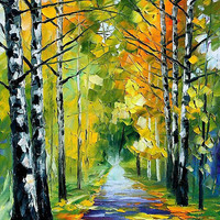"""BIRCHES - LEONID AFREMOV "" by Leonid Afremov 