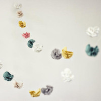 DIY Wedding Fabric Flower Garland | DIY Wedding Garland Ideas | DIY | Once Wed