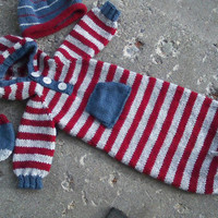OOAK Made to Order-Custom Knit Wool Blend Sleep Sack in Sizes Preemie-3 months