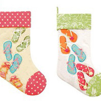 Flip Flops On The Beach Stocking (Pair) | OceanStyles.com