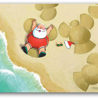 Santa Sand Angel Boxed Christmas Cards | OceanStyles.com