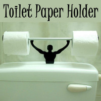 New Bathroom Novelty Toilet Paper Tissue Roll Holder Strong Man Home Decor Gift