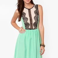 Dance Hall Days Mint Green Lace Dress