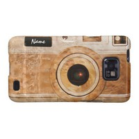 Funny Retro Wood Burl Camera Samsung Galaxy S Cover from Zazzle.com