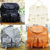 NEW Woman's PU Leather Shoulder Bags Messenger Cross Body Bags Handbag Totes E09
