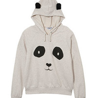 Teens White Panda Ears Hoodie