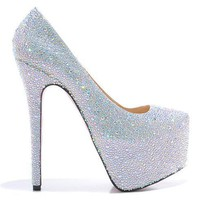 Sexy Crystal Platform high heels