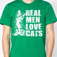 Real Men Love Cats T-shirt 17.95 shirt tshirt American Apparel Christmas Gift from Suck It Up