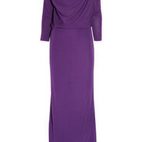 Halston Heritage|Draped matte-jersey gown|NET-A-PORTER.COM
