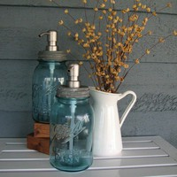 Getting crafty / rustic mason jar soap dispenser - Google Images