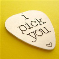 I Pick You Guitar Pick - Spiffing Jewelry
