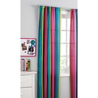Walmart.com: your zone printed microfiber window curtains, pop stripe, set of 2: Kids&#x27; &amp; Teen Rooms