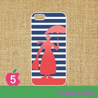 iPhone 5 case - Mary Poppins, in white or black plastic hard case