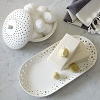 Perforated Porcelain Bath Accessories | west elm