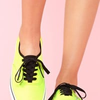 Authentic Sneaker - Neon Yellow