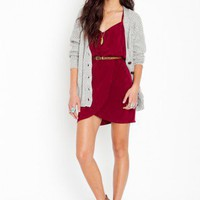 Racerback Wrap Dress - Wine