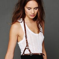 Free People Leather Harness Belt