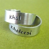 Khal &amp; Khaleesi Adjustable Rings - Spiffing Jewelry
