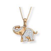 Palm Beach Jewelry 10k Gold Diamond Accent Elephant Pendant 31162