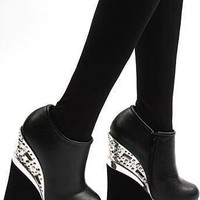 Studded Black Ankle Booties!