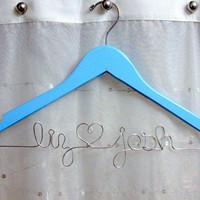 Something Blue Custom Wedding Hanger Suspended by DawnsCraftStore