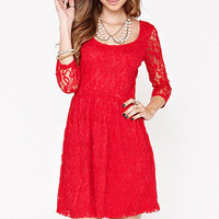 Kirra 3/4 Sleeve Flippy Dress at PacSun.com