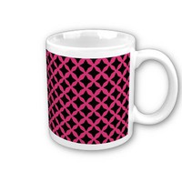 Cabaret Red Fuchsia And Black Seamless Mesh Mugs from Zazzle.com