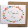 Floral Watercolor Thank You Cards Set of Six - Wedding Thank You - Flowers - Woodland