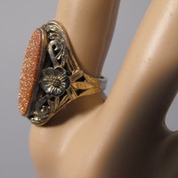 14K Victorian Gold Stone Ring on Ruby Plaza