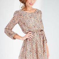 Leopard Print Chiffon Dress