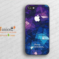Black iphone 5 case iphone 5 cove with ble ice design   ,unique design Iphone case 5  B0018