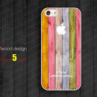 case for iphone 5  NEW iphone 5 case iphone 5 cover colorized wood texture image unique design printing atwoodting design