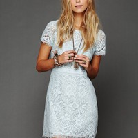 Free People Straight Laced Shift Dress