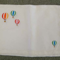 Vintage Linen Hot Air Balloon Appliqued Placemats by chictrezures