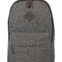 GREY TWEED WOOL MIX RUCKSACK