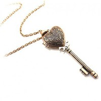 Heart and Key Pendant Necklace