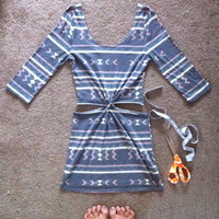 Tribal Twist Cutout Dress